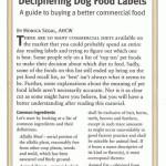 Deciphering Dog Food Labels